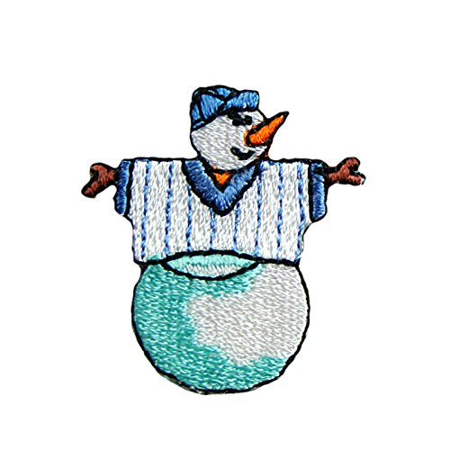 altotux Schneemann Winter Urlaub selbstklebend Eisen auf Aufnäher Aufkleber Patch White and Blue...