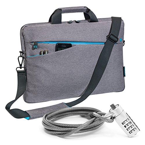 """PEDEA Notebooktasche \""""Fashion\"""" für 17,3 Zoll (43,9cm) mit Zubehörfach, Schultergurt und Notebookschloss, grau"""