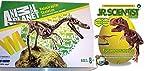EDU Toys Velociraptor Skelett Bausatz 24 Teile von Animal Planet + GK008 Tyrannosaurus Rex