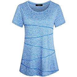 iClosam Camiseta para Mujer Yoga
