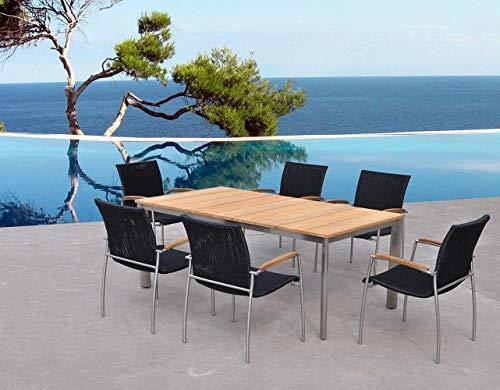 Melbourne - Table et Chaises de jardin haut de gamme en teck