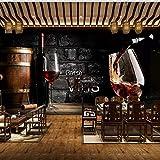 3D Tapete Europäischen Stil Retro Rotwein Backsteinmauer Hintergrund Wandmalerei Western Restaurant Bar Weingut Dekor Wandbild Dekoration (W)400X(H)280Cm