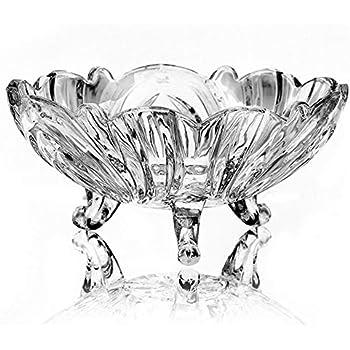 Bol en verre Irena bol /à fruits bol /à salade bol /à servir bol en verre de cristal Hambourg /Ø29xH9cm