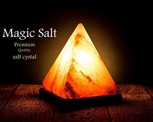 Magic Salt  HIMALAYA SEL ROSE BIG PYRAMID SHAPE CRYSTAL ROCK LAMP NATUREL...