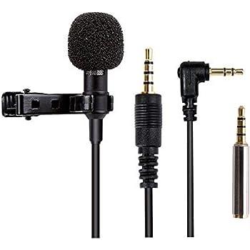 Mikrofon für Smartphone, Omnidirectional Kondensator-Mikrofon für iPhone & Android Smartphone, Laptop Macbook, iPad mit Lavalier Lapel