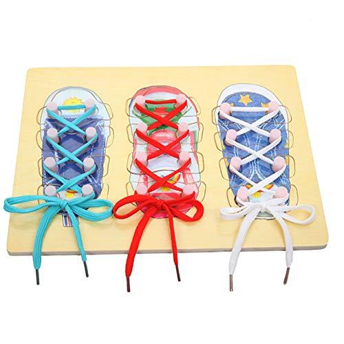 Creative Shoelaces Spielzeug Kleinkind hölzerne pädagogische Spielzeug Bildung Spielzeug für Das Lernen binden Schuhe 1 Set