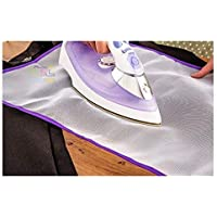 Kwikbuy 1 Pc Ironing Pressing Cloth Pad Protective Insulation Scorch Mesh Cloth for Easy Ironing (58cm x 40 cm, Random Color)