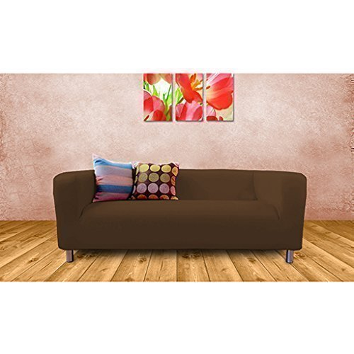 Ikea Klippan 2 Seater Sofa Replacement Slip Cover, Chocolate