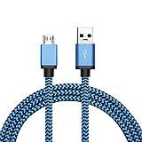 J Robin USB 2.0-Kabel, A-Stecker auf Micro-B-Stecker, geflochtenes Nylon-Datenkabel, farbig, extra-lang, robustes Gewebe, für Samsung Galaxy Note, Samsung Galaxy S3/S4/S5/S6 Edge, Sony, Nokia, LG, Google Nexus 4/7/10, Xbox, PS4, 2 m lang