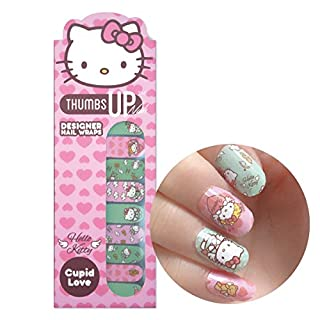 Hello Kitty Special Edition Amor Love Nail Wraps By ThumbsUp Nägel/Adhesive/Nail Polish Strips/Full Deckung Nail Art-Sticker/20Packungen pro Pack