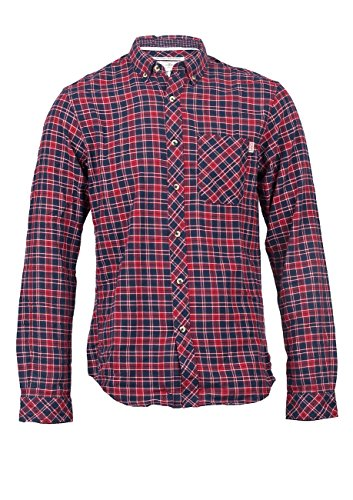 Tom tailor denim 2028892.00.12 flannel chemise à carreaux à manches Multicolore - coach red-4498