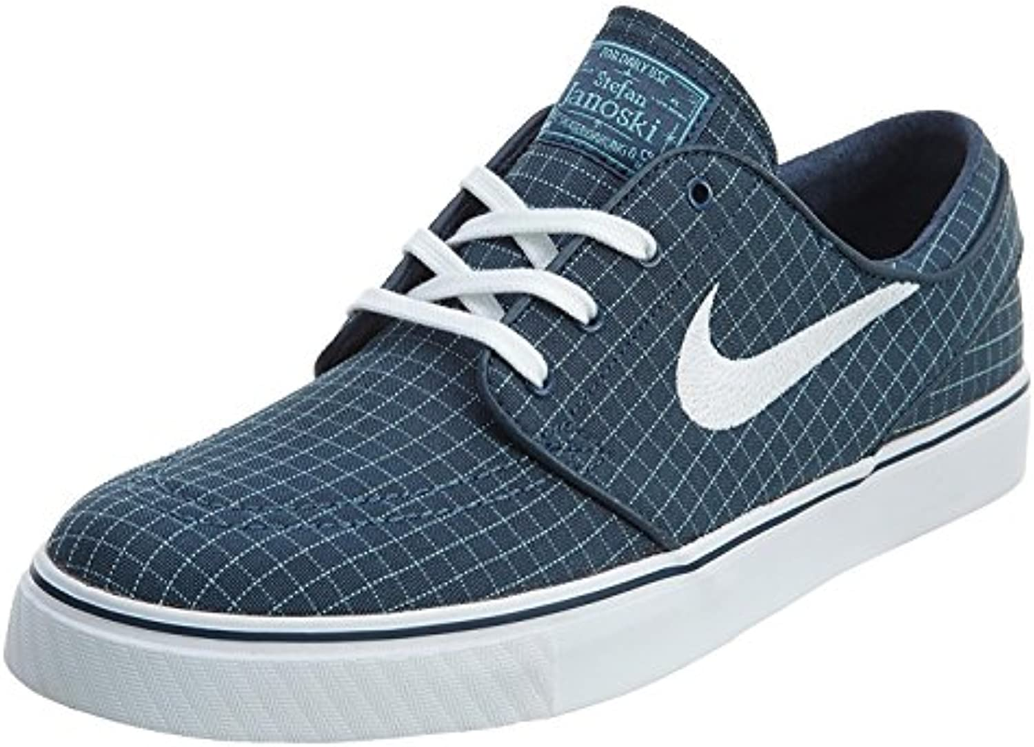 Nike Men'S Stefan Janoski Canvas Skate Shoe, Squadron Blue/White-TD Platinum Blue, 47.5 D(M) EU/12.5 D(M) UK