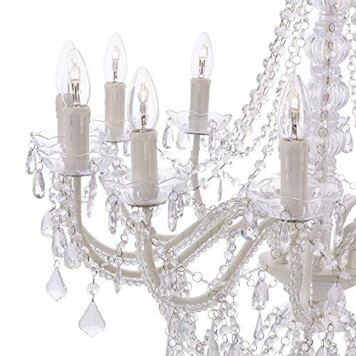"Kronleuchter ""Maxi"", Kristall-Optik, Elegante Kerzen - 4"