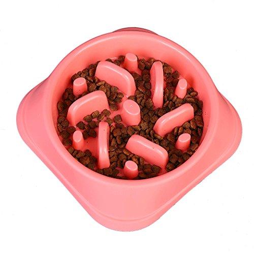 Ciotole per Animali Domestici Antiscivolo Interattivo Ciotola Divertente per Cani Gatti Lenta Mangiare Bowl
