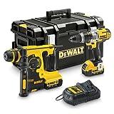 DeWalt–Kit DEWALT dck288m2t Bohrer mit Bohrhammer + Meißelhammer SDS Plus in Koffer Leistungsstarker 300Watt