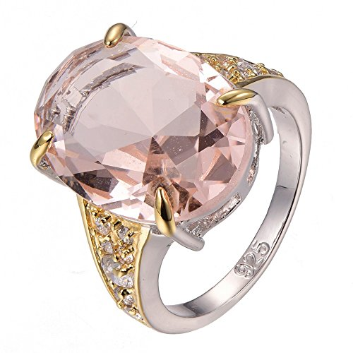 Morganite 925 Sterling Silver Filled Ring Size M To T 1/2 F1295