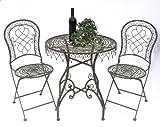 DanDiBo Sitzgruppe Malega 12184-85 Gartentisch + 2 Stk. Gartenstuhl Tisch Gartengarnitur