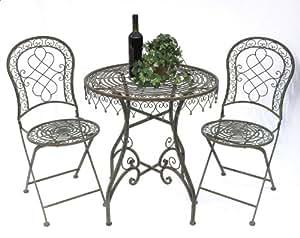 """Table and chairs """"Malaga"""" 12184-85 Garden table + 2 pcs. Garden chair Table Garden furniture"""