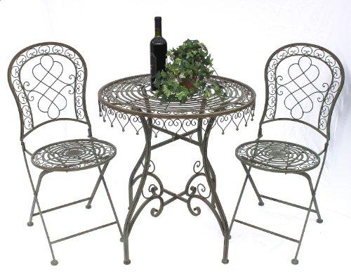 Più sedute Malaga 12184-85 Tavolo da giardino + 2 sedie da giardino Tavolo Serie-giardino