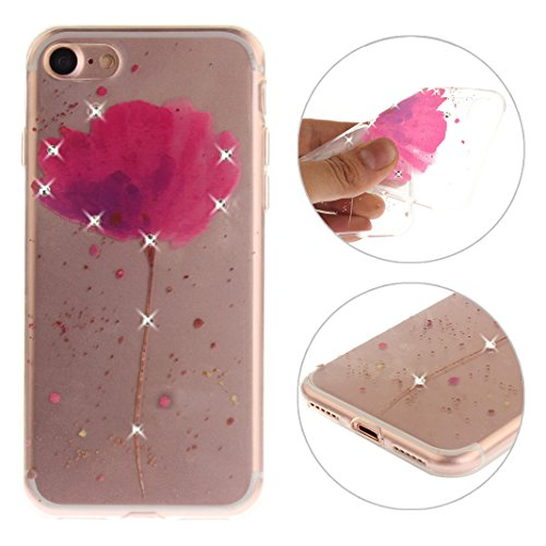 "Coque iPhone 7 Apple ,iPhone 7 Silicone Case Rosa Schleife® Ultra Mince Souple TPU Silicone Gel housse de protection Etui antichoc Etui pour Apple iPhone 7 (4.7"") -Mandala Brun Style-8"
