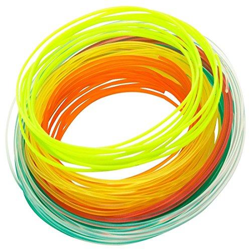 Gixmo 4 colours Starter Kit 17ft x 4 PLA Filament Set for 3D Printing Pen