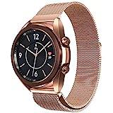 Dado Milanese strap For Samsung Galaxy watch 3 41mm 45mm (41 mm, Rose Gold)