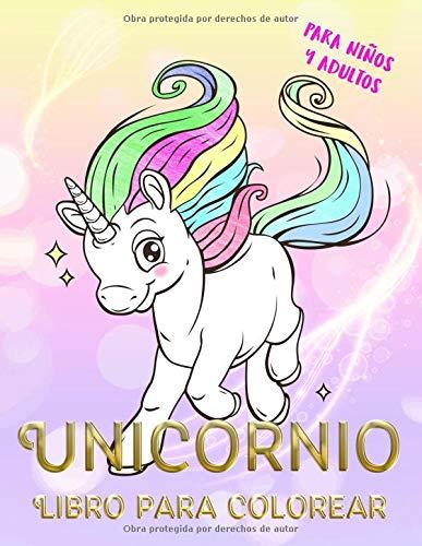 Unicornio Libro para colorear para niños y adultos: unicornio mágico (ANTIESTRES Libro De Colorear)