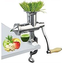 ELEOPTION - Exprimidor manual de hierba de trigo (acero inoxidable), extractor de jengibre