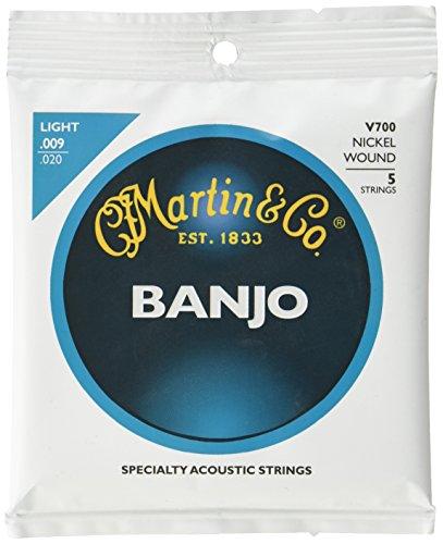 Martin V700 Vega Corde per Banjo 09-20, Confenzione da 5