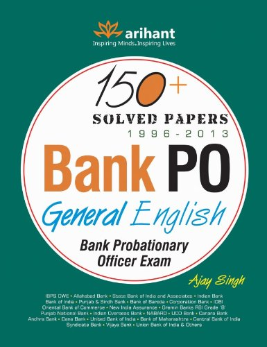 150 + Solved Papers Bank PO General English
