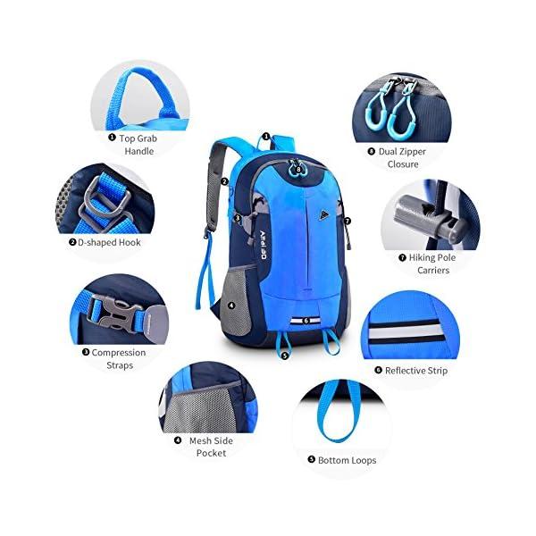 Zainetto da escursione Bonibol 35L, zaino da campeggio/viaggio/casual ultraleggero e resistente all'acqua 4 spesavip