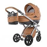knorr-baby 2580-4 Kombi Kinderwagen Alive Pure, camel
