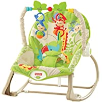 Fisher-Price - Hamaca crece conmigo monitos divertidos, color verde (Mattel CBF52)