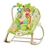 Fisher-Price Hamaca crece conmigo monitos divertidos, color verde, juguetes bebe (Mattel CBF52)
