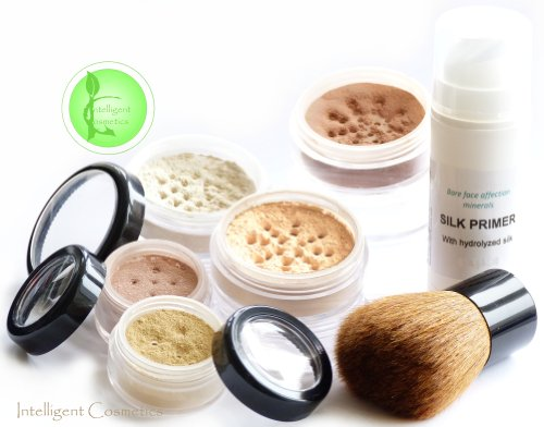 Shade Fair Bare Face Zuneigung Minerals 7Piece Set Mineral Foundation Make Up Sheer Finish Full Coverage