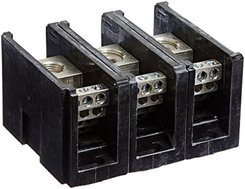 Power Distribution and Terminal Block, Connector Blok - Single Primary - Multiple Secondary, 500MCM-4 AWG Line and 4-14 AWG Load Side Configuration, 1.71 Width, 2.62 Height, 4.00 Length by NSI Nsi Power Distribution Blocks