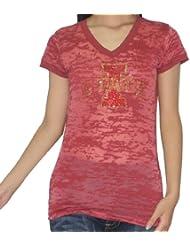 NCAA Iowa State Cyclones femmes Vintage Look Rhinestones T-Shirt