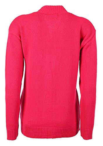 New Classic - Cardigan da donna, taglie 38-48a maglia, a maniche lunghe stile Aran Red
