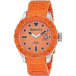 Superdry SYG140O Mens Scuba Deep Sea Orange Silicone Strap Watch