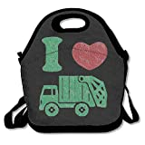 I Love Trash Garbage Trucks Lunch Tote Bag Bags Awesome Lunch Handbag Lunchbox Box For School Work Outdoor