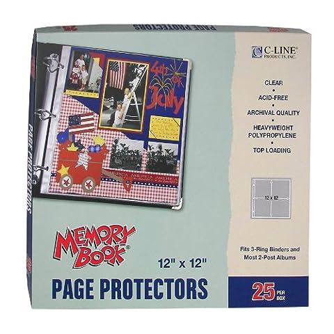 C-Line 62021 Memory Book Top-Load Page Protectors 12 x 12 pouces