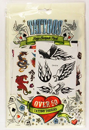 boys-temporary-tattoos-50-designs-kids-tattoo-transfers-childrens