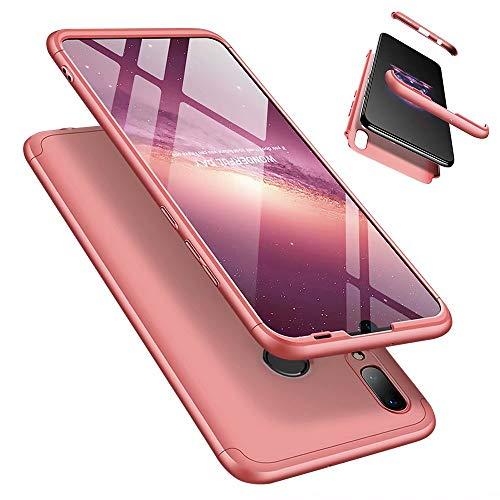 LaiXin Huawei P Smart (2019) Hülle/Honor 10 lite Handyhülle Ultra Dünn PC Cover Anti-Kratzen Schutzhülle Schutz Case mit Displayschutzfolie für Huawei P Smart (2019)/Honor 10 lite - Rosegold