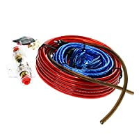 Baoblaze Auto Accessory Car Stereo Audio Amplifier Wiring Wire Kit W/60A Fuse Holder