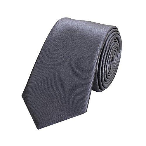 Fabio Farini klassische 6 cm Krawatte, für jeden Anlass in edelem grau