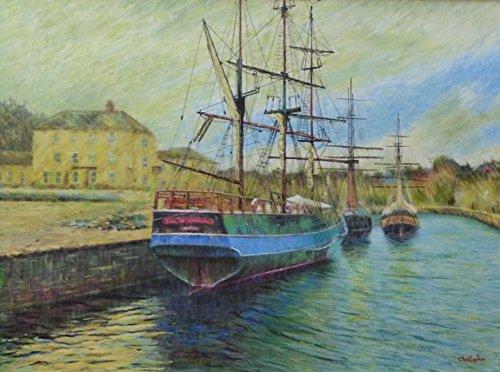buques-en-puerto-61-cm-x-46-cm-pintura-de-la-nave-de-earl-de-pembroke-estilo-impresionista-barcos-ch