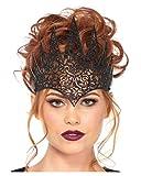 Horror-Shop Königinnen Krone in schwarz für Kostümfest One Size