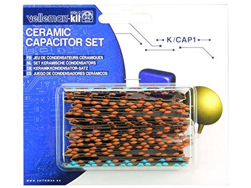 VELLEMAN - K/CAP1 Modules keramisches Kondensator, 14 Werte von 10PF bis 220NF, Sort (224-er Pack) 122008