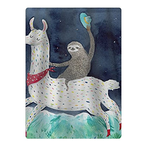 Dongxu New Sloth Riding Llama Painting Microfiber Beach Towel - Suitable for Swimming Pool, Beach, Camping, Beach Blankets (Towel Beach Blanket)