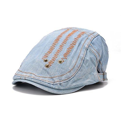 Action Club Casquette Souple Plate Jean à Motif Bleu clair